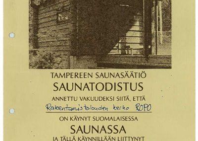 saunatodistus 1986